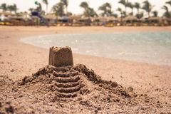 Schloss auf dem Sand Stockfotografie