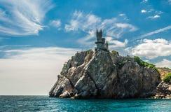 Schloss auf einem Felsen Stockbild