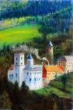 Schloss auf Hügel Stockfoto