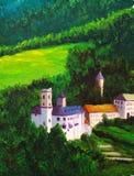 Schloss auf Hügel Stockbilder