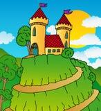 Schloss auf Hügel Lizenzfreie Stockfotos