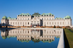Schloss Belvedere in Vienna Royalty Free Stock Image