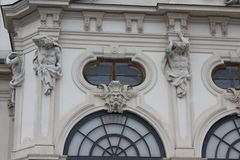 Schloss Belvedere in Vienna facade Royalty Free Stock Photography