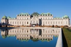 Schloss Belvedere in Wien lizenzfreies stockbild