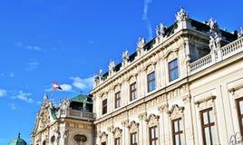Schloss belwederu szczegół Wien Fotografia Royalty Free
