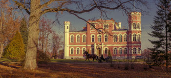 Schloss Birini, in Lettland Stockfotos