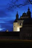 Schloss bis zum Nacht Stockbilder