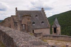 Schloss bourscheid, Luxemburg Stockfotos