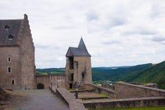 Schloss bourscheid, Luxemburg Lizenzfreie Stockfotografie
