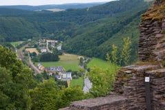Schloss bourscheid, Luxemburg Lizenzfreies Stockbild