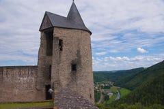 Schloss bourscheid, Luxemburg Stockbild