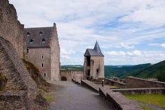 Schloss bourscheid, Luxemburg Lizenzfreies Stockfoto