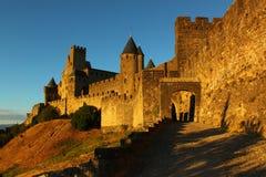 Schloss Carcassone Lizenzfreies Stockbild