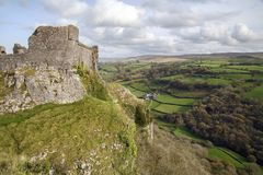 Schloss Carreg Cennen Stockfotos
