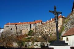 Schloss in Cesky Krumlov Lizenzfreie Stockbilder