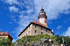 Schloss Cesky Krumlov Stockfoto