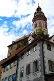 Schloss Cesky Krumlov Stockbilder