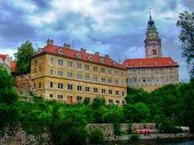 Schloss Cesky Krumlov Stockfotos