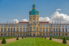 Schloss Charlottenburg (Charlottenburg Palace) with garden in Berlin. It is the largest palace and the only surviving royal residence in the city royalty free stock images