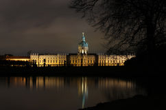 Schloss charlottenburg night berlin europe water Royalty Free Stock Photography