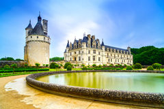 Schloss Chateau de Chenonceau. Die Loire, Frankreich Lizenzfreie Stockfotografie