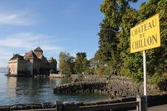 Schloss chillon lizenzfreies stockbild