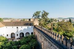 Schloss Christian Kingss in Cordoba Stockbilder