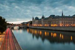Schloss Conciergerie in Paris stockbild