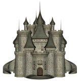 Schloss - 3D übertragen Lizenzfreies Stockbild