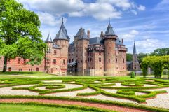 Schloss De Haar nahe Utrecht, die Niederlande lizenzfreies stockbild