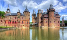 Schloss De Haar nahe Utrecht, die Niederlande stockfotos