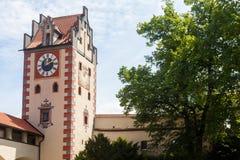 Schloss de Hohes, castelo no meio de Fussen, cumes bávaros Imagem de Stock Royalty Free