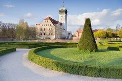 Schloss Delitzsch - idyllischer Edelstein Stockbilder