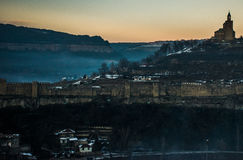 Schloss in der Farbe Stockfotos