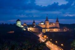 Schloss der Stadt. Kamianets-Podilskyi. Ukraine Stockbilder
