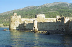 Schloss in der Türkei stockbilder