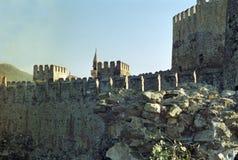Schloss in der Türkei stockbild