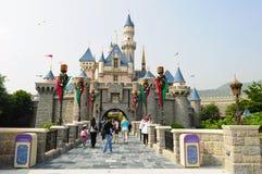 Schloss des Disney-Landes Stockfotos