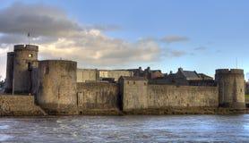 Schloss des Königs John im Limerick, Irland. Lizenzfreies Stockbild