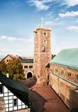 Schloss des mittelalterlichen Ritters Lizenzfreies Stockfoto