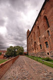 Schloss des roten Ziegelsteines Stockfotografie