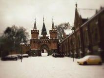 Schloss des roten Ziegelsteines in Hradec nad Moravici Lizenzfreies Stockfoto