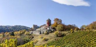 Schloss Deutschlandsberg auf West-Steiermark Stockfotos