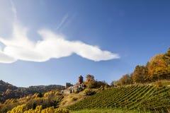 Schloss Deutschlandsberg auf West-Steiermark-Rebweg Lizenzfreie Stockbilder