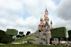 Schloss in Disneyland nahe Paris Stockbild