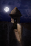 Schloss EL-Morro nachts Stockbild