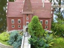 Schloss ?ervená Lhota - Miniaturmodell lizenzfreie stockbilder