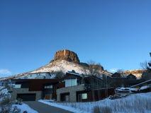 Schloss-Felsen Butte in Goldenem Stockfotografie