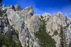 Schloss-Felsspitzen Stockbilder