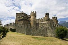 Schloss Fenis Lizenzfreies Stockfoto